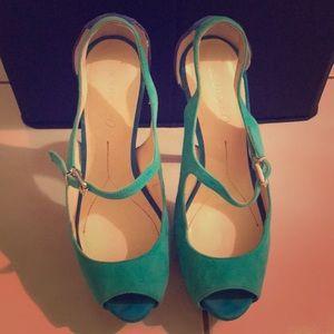 Boutique 9 Blue Aqua Green High Heels Size 7.5M